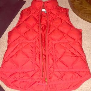 Jcrew vest red great condition worn a few times